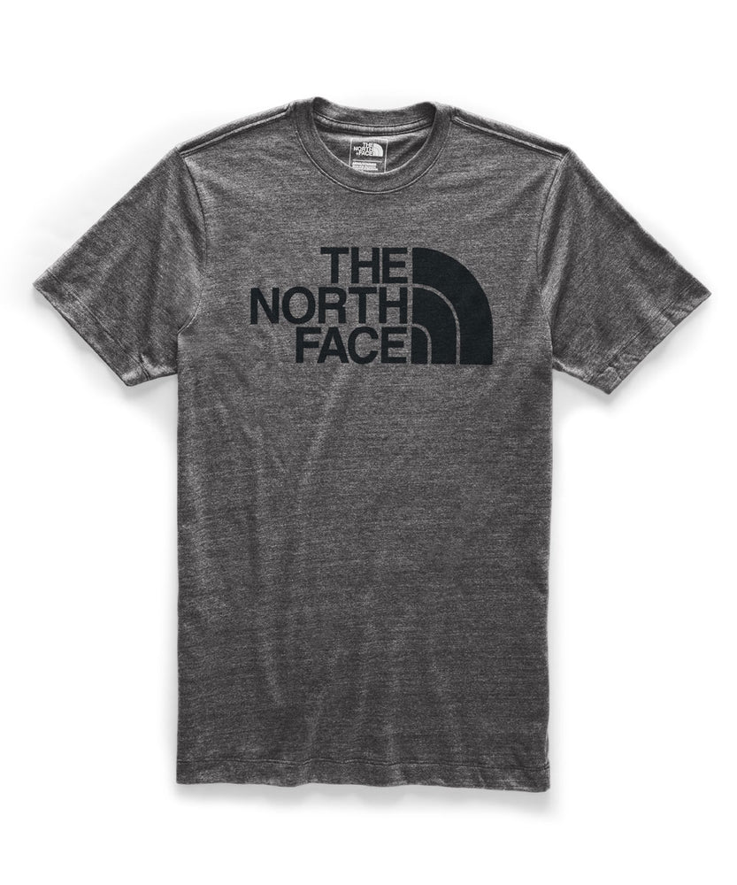 The North Face Men's Short Sleeve Tri-Blend Half Dome T-shirt in TNF Dark Grey Heather at Dave's New York