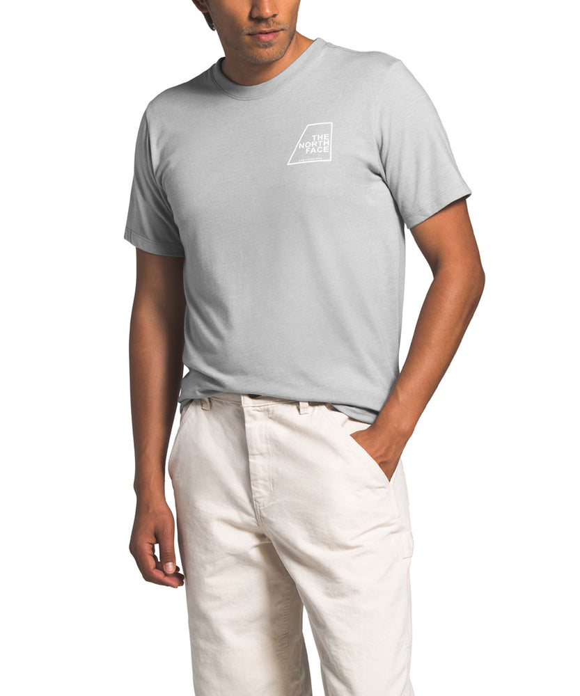 The North Face Men's Short Sleeve Logo Marks Tri-Blend T-shirt in TNF Light Grey Heather at Dave's New York
