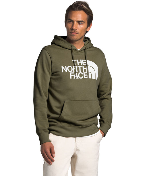 The North Face Men's Half Dome Pullover Hoodie Sweatshirt in Burnt Olive Green at Dave's New York