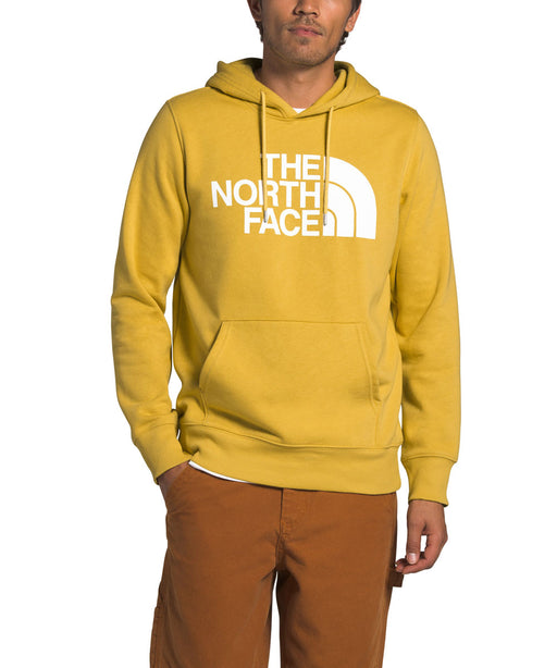 The North Face Men's Half Dome Pullover Hoodie Sweatshirt in Bamboo Yellow at Dave's New York