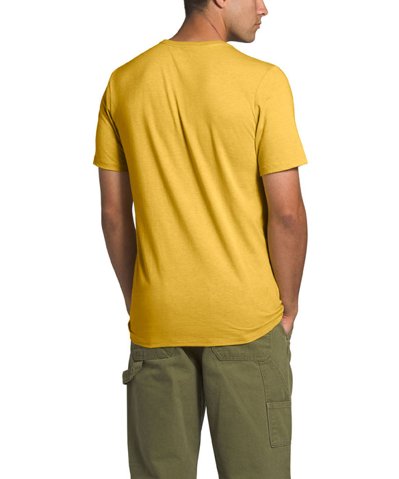 The North Face Men's Short Sleeve Half Dome Tri-Blend T-shirt in Bamboo Yellow Heather at Dave's New York