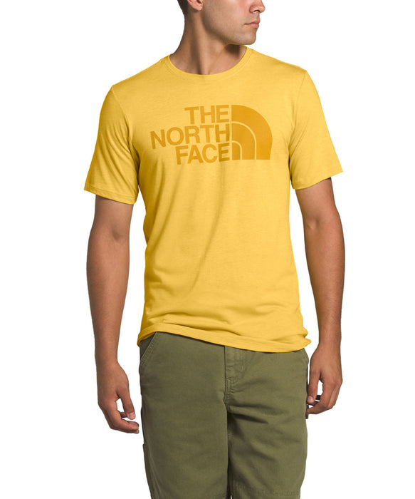 The North Face Men's Short Sleeve Half Dome Tri-Blend Tee - Bamboo Yellow Heather