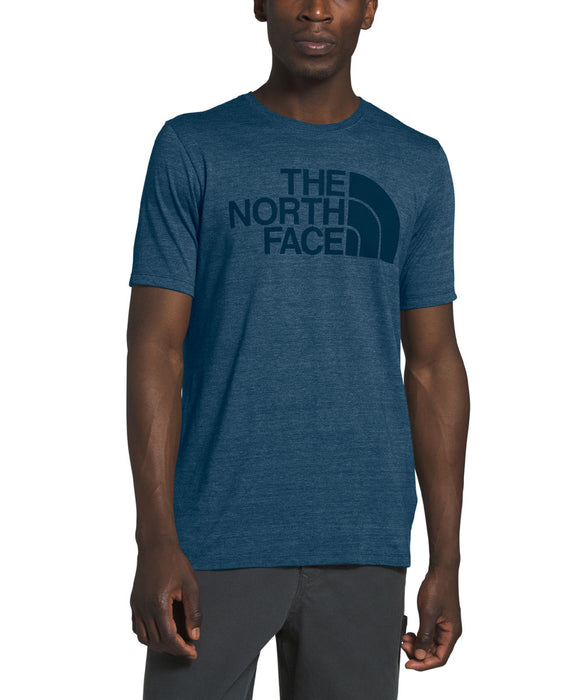 The North Face Men's Short Sleeve Half Dome Tri-Blend Tee - Blue Wing Teal Heather