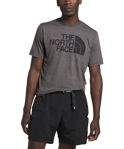 The North Face Men's Short Sleeve Half Dome Tri-Blend T-shirt in TNF Dark Grey Heather at Dave's New York