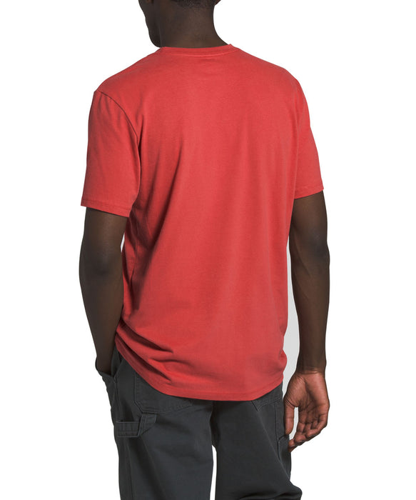 The North Face Men's Short Sleeve Half Dome T-shirt in Sunbaked Red at Dave's New York