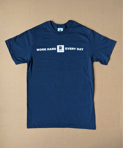 "Dave's New York ""Work Hard Every Day"" Tee - Navy"