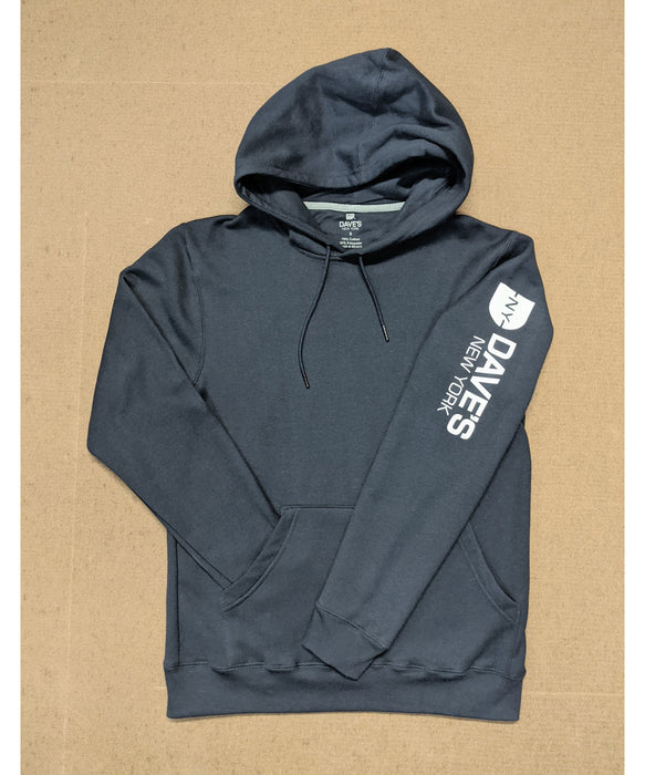 Dave's New York Men's Mid-weight Hooded Logo Sweatshirt - Navy