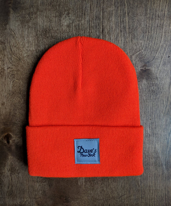 Dave's New York Vintage Logo Beanie - Bright Orange