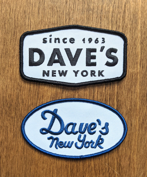 Dave's New York Logo Patches (2-pack)