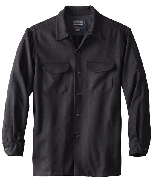 Pendleton Men's Classic Fit Wool Board Shirt – Black Flannel