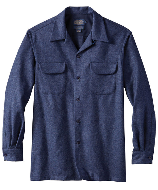 Pendleton Men's Classic Fit Wool Board Shirt – Navy Mix