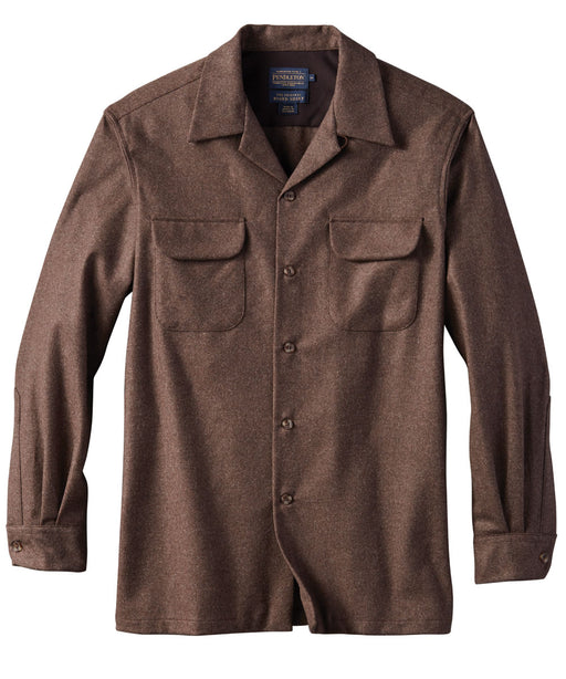 Pendleton Men's Classic Fit Wool Board Shirt – Brown Mix