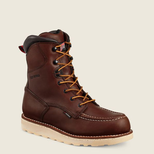Red Wing 8-Inch Moc Toe Waterproof Work Boot (411) - Red Oak