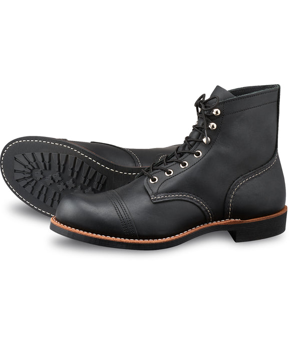 Red Wing Heritage Iron Ranger Boots (8084) in Black Harness Leather at Dave's New York