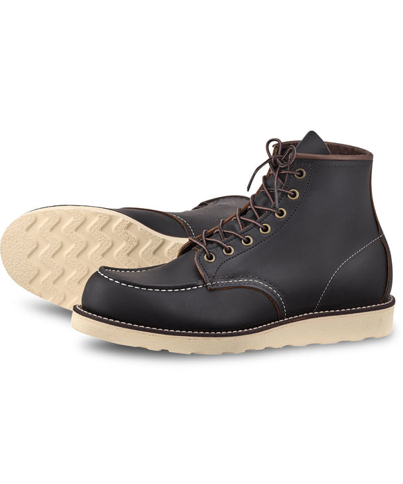 Red Wing Heritage 6-inch Classic Moc Boots (8849) in Black Prairie at Dave's New York