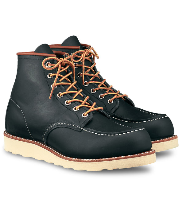 Red Wing Heritage 6-inch Classic Moc Toe Boots ( 8859) in Navy Portage Leather at Dave's New York