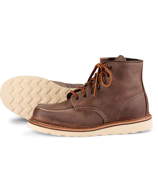 Red Wing Heritage 6-inch Classic Moc Toe Boots (1907) in Concrete Rough & Tough at Dave's New York