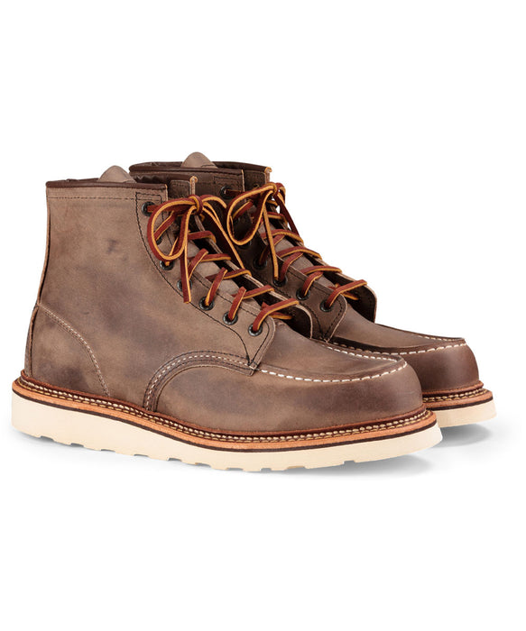 Red Wing 6-inch Classic Moc Toe Heritage Boots – 1907 – Concrete Rough & Tough