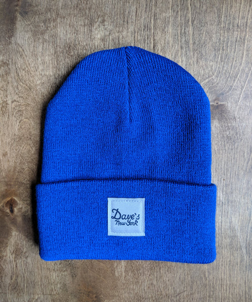 Dave's New York Vintage Logo Beanie - Royal Blue