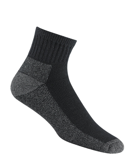 Wigwam At Work Quarter Socks 3 pack - Black at Dave's New York