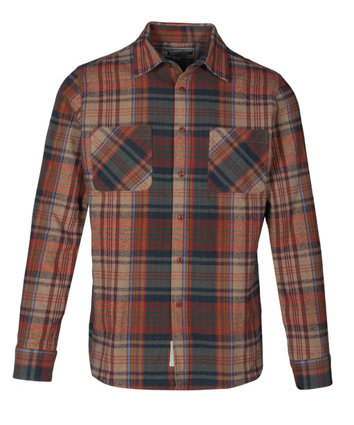 Schott NYC Plaid Flannel Shirt in Brick at Dave's New York