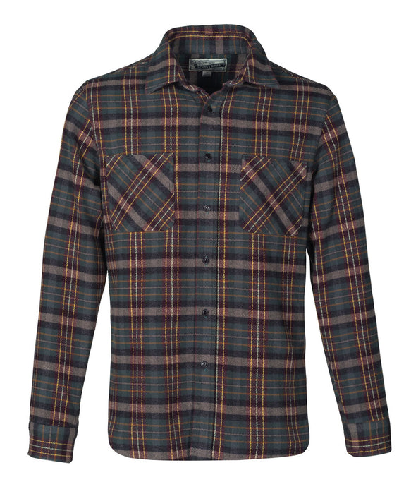 Schott NYC Plaid Flannel Shirt in Hunter Green at Dave's New York