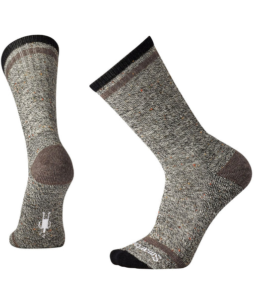 Smartwool Men's Larimer Crew Socks in Black-Taupe Heather at Dave's New York
