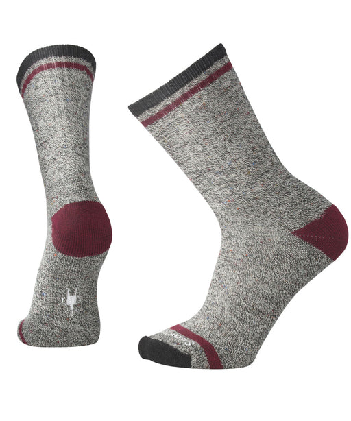 Smartwool Men's Larimer Crew Socks – Charcoal Heather-Tibetan Red