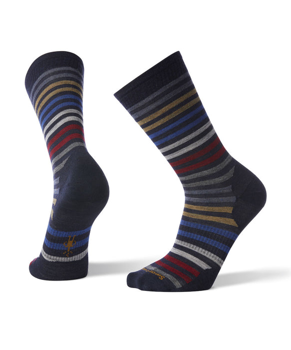 Smartwool Men's Spruce Street Crew Socks in Navy at Dave's New York