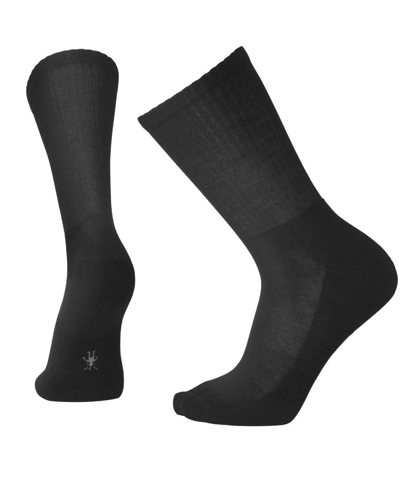 Smartwool Men's Heathered Rib Crew Socks in Black at Dave's New York