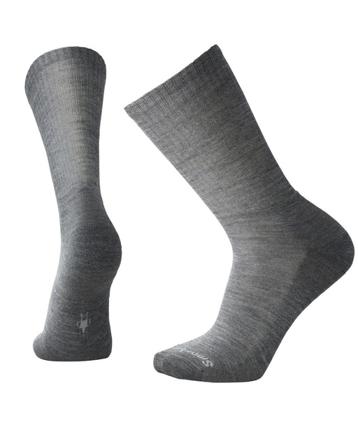 Smartwool Men's Heathered Rib Crew Socks – Medium Grey
