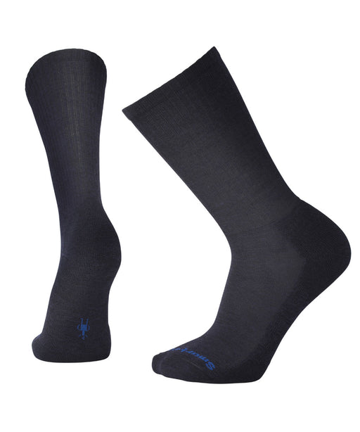 Smartwool Men's Heathered Rib Crew Socks – Deep Navy Heather