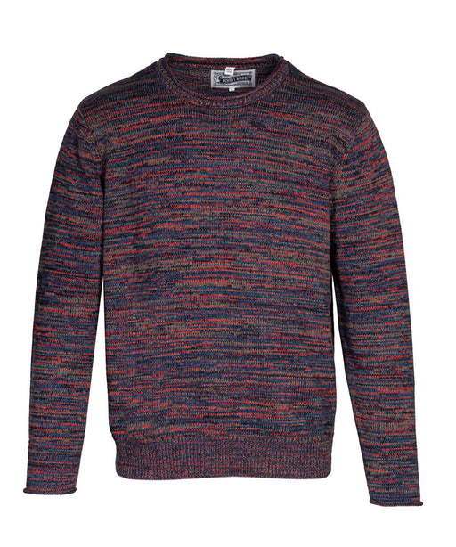 Schott NYC Cotton Crewneck Sweater in Multicolor at Dave's New York