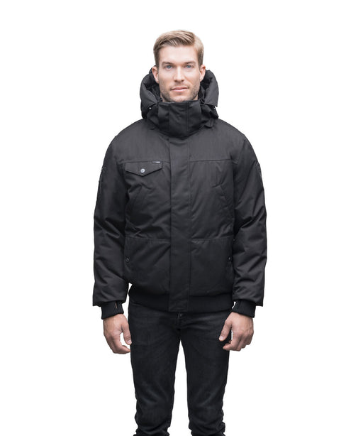 Nobis Men's The Stanford Bomber Jacket - Black Crosshatch