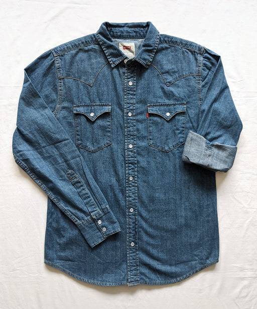 Levi's Men's Standard Western Denim Shirt in Authentic Stonewash Tint at Dave's New York