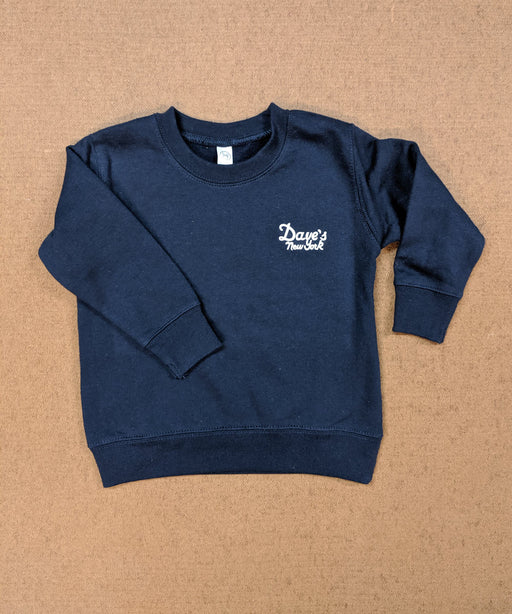 Dave's New York Kids Logo Crewneck Sweatshirt in Navy