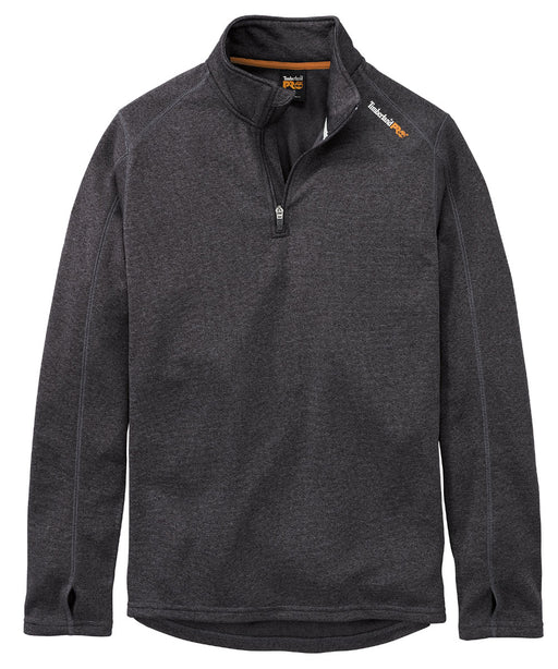 Timberland PRO Understory Quarter-Zip Fleece in Dark Charcoal Heather at Dave's New York