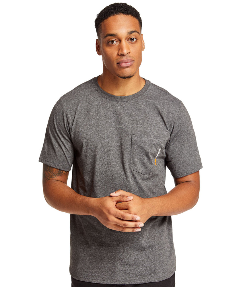 Timberland PRO Base Plate Wicking T-Shirt in Dark Charcoal Heather at Dave's New York