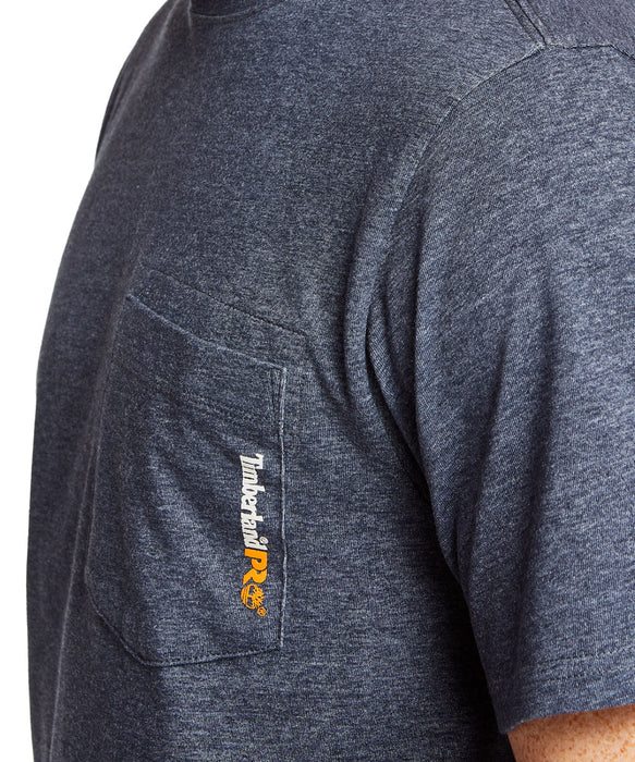 Timberland PRO Base Plate Wicking T-Shirt in Navy Heather at Dave's New York