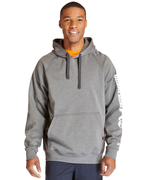 Timberland PRO Hood Honcho Sport PulloverHooded Sweatshirt in Dark Charcoal Heather/White at Dave's New York