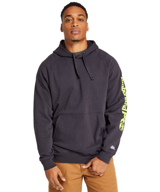 Timberland PRO Hood Honcho Sport Pullover Hooded Sweatshirt in Dark Navy/Yellow at Dave's New York