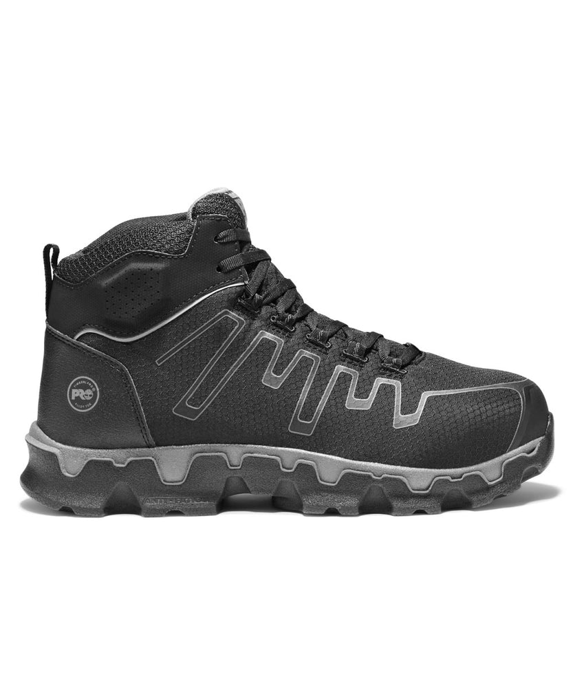 Timberland PRO Men's Powertrain Sport Alloy Safety Toe Mid Boots in Black at Dave's New York