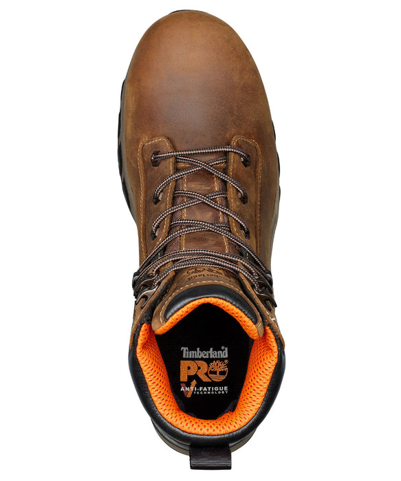 Timberland PRO Hypercharge Composite Toe Work Boots - A1RVS in Tan Full Grain at Dave's New York