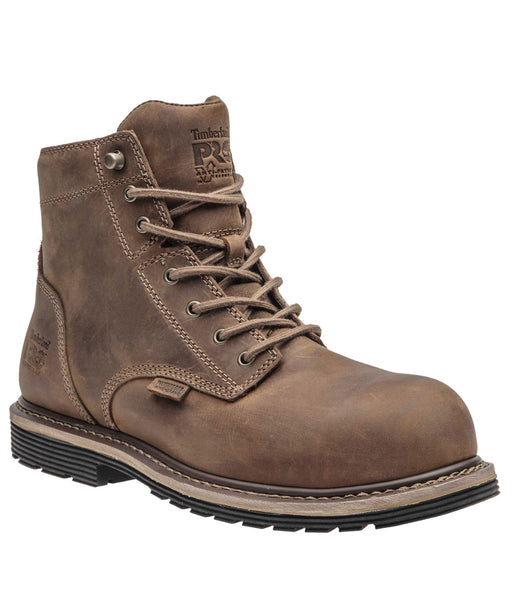 Timberland PRO Millworks Comp Toe Waterproof Work Boots - A1S3M in Brown at Dave's New York