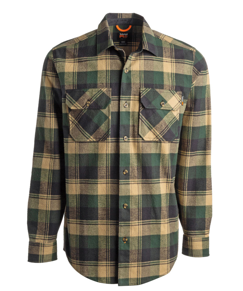 Timberland PRO Woodfort Heavy-Weight Flannel Shirt - Forest Plaid at Dave's New York