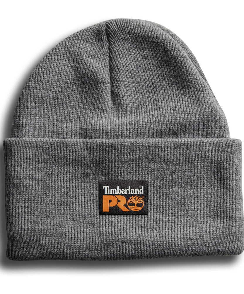 Timberland PRO Acrylic Knit Watch Cap Beanie in Light Grey Heather at Dave's New York