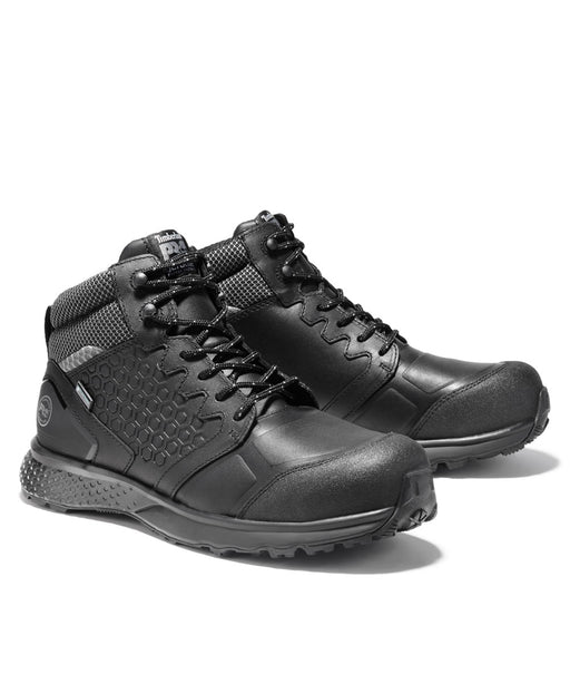 Timberland PRO Men's Composite Toe Reaxion Waterproof Hiker Boots in Black at Dave's New York