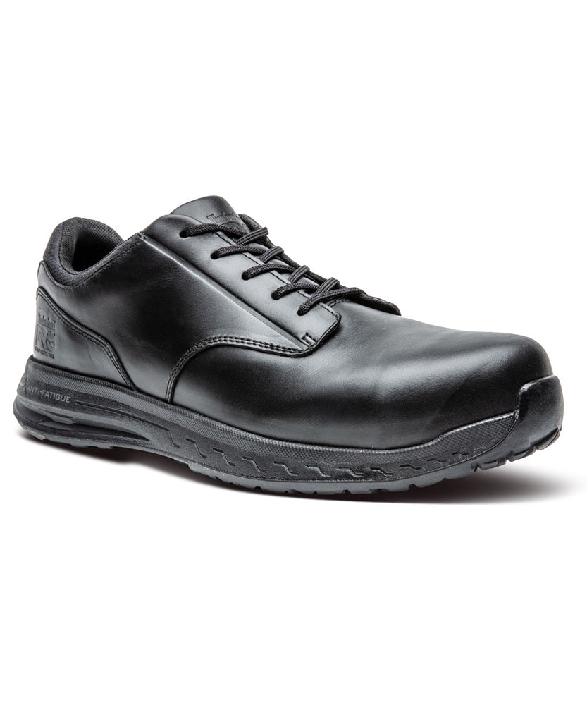 Timberland PRO Men's Drivetrain Composite Toe Oxford Shoes in Black at Dave's New York