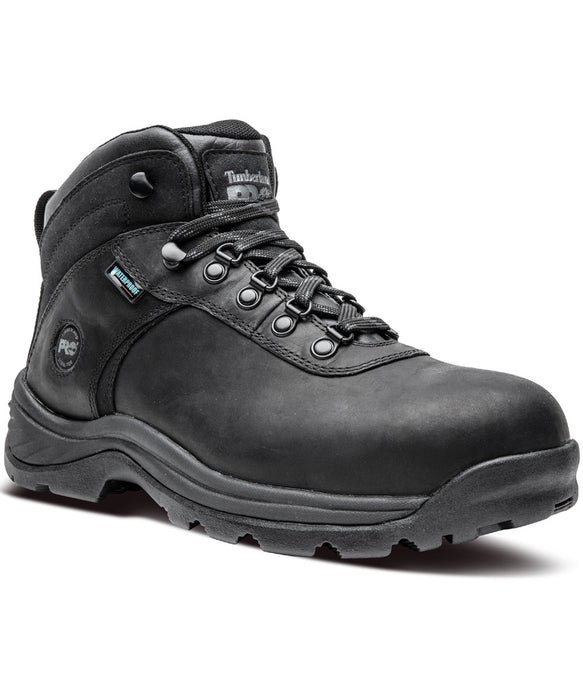 Timberland PRO men's Flume Steel Toe Work Boots in Black at Dave's New York