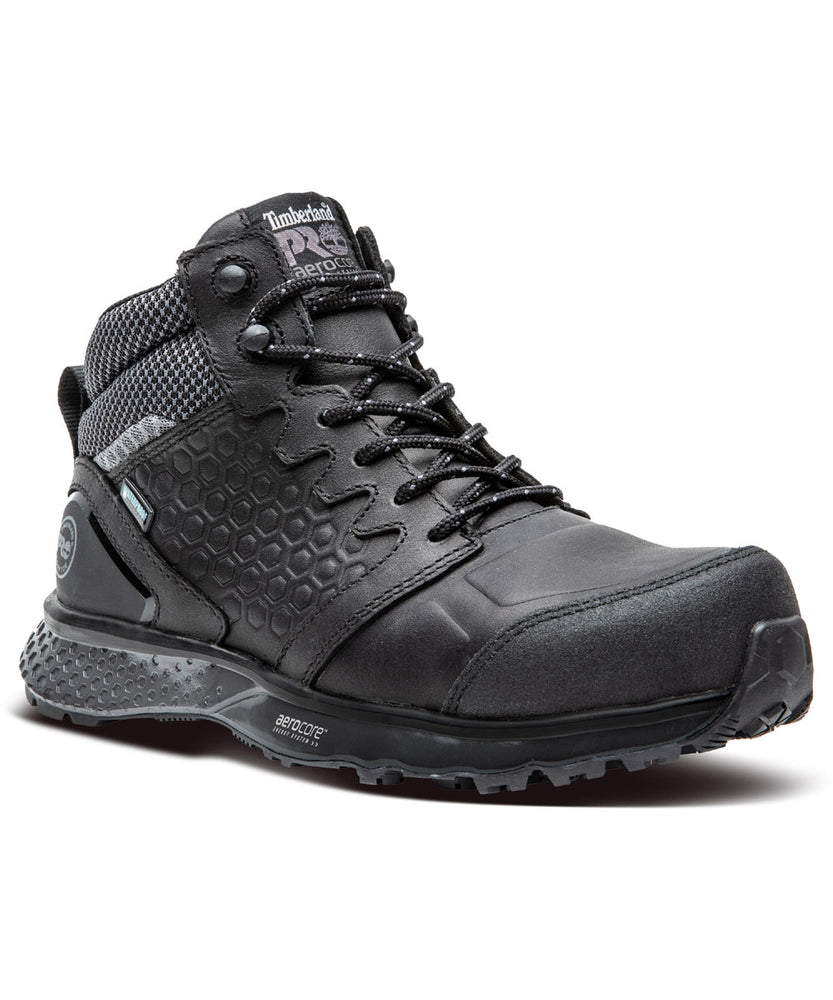 Timberland PRO Women's Composite Toe Reaxion Waterproof Hiker Boots in Black at Dave's New York